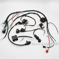 GY6 125cc 150cc COMPLETE ELECTRICS 6 coil Stator Wire Harness Loom Magneto Coil CDI Rectifier Solenoid Spark Plug New