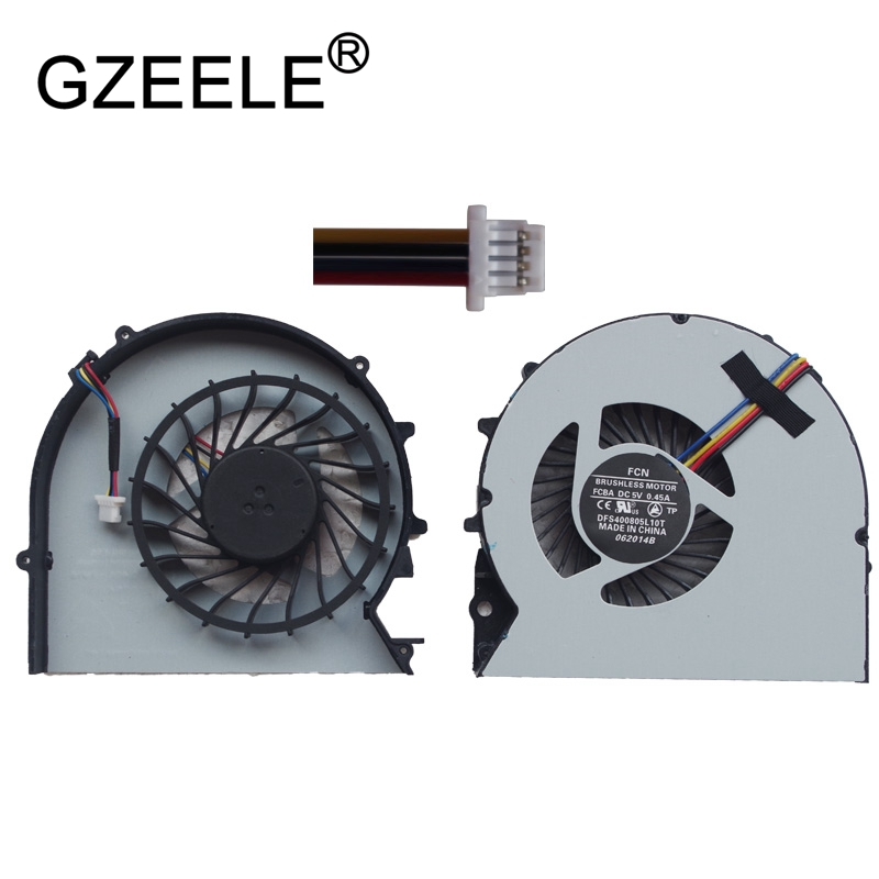 GZEELE new cpu cooling fan for HP ProBook 450 G0 450 G1 455 G1 450G0 450G1 455G1 Laptop CPU Cooler Notebook Computer Replacement laptop cpu cooler fan for inspiron dell 17r 5720 7720 3760 5720 turbo ins17td 2728 fan