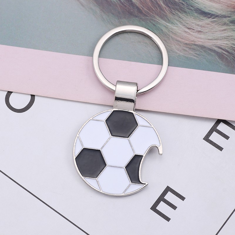 Trendy-Football-Key-Chain-Creative-Beer-Bottle-Opener-Keychain-Enamel-Black-White-Soccer-Key-Ring-Unisex (1)