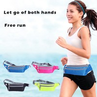 [For 4.7-5.5inch ] Waterproof outdoor Multifunction   Running   Waist Bag Sport Packs For Music With Headset Hole-Fits Smartphones