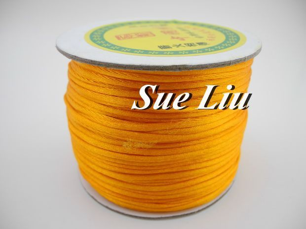 100yds 2mm Golden Yellow Rattail Satin Cord Chinese Knot Beading Cord: Nylon NCN6S