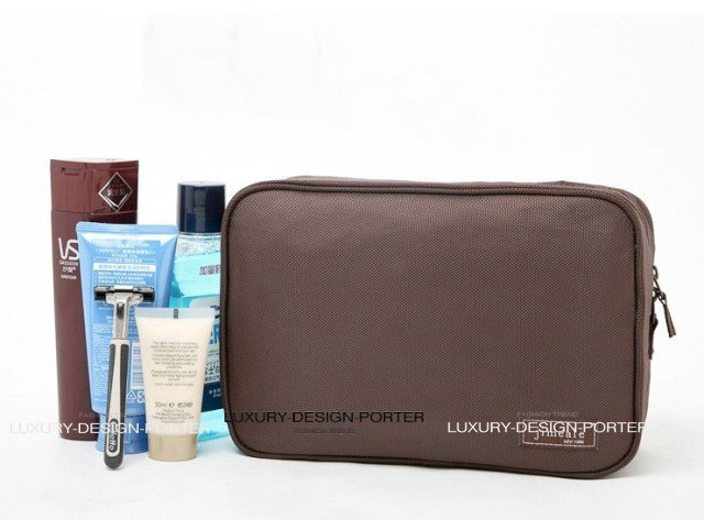 New Large spacious Cosmetic Bag With Hook Elegant Business Men Toiletry Bag Travel Organizer