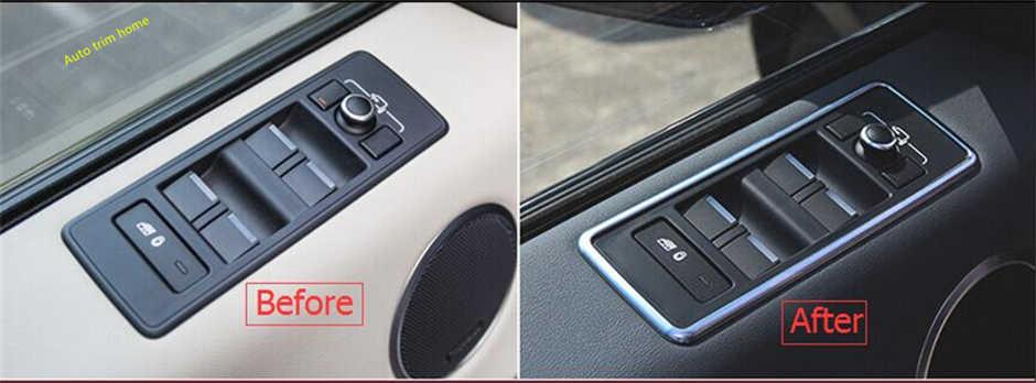 Lapetus Inner Car Door Handle Armrest Window Glass Lift Button Panel Cover Trim 4 Pcs For RANGE ROVER Sport 2014 2015 2016 2017