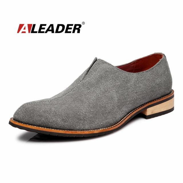 bea572c4 Clásicos Zapatos de Vestir Para Hombre Mocasines 2015 Otoño Lona de La  Manera Oxfords Hombres Resbalón