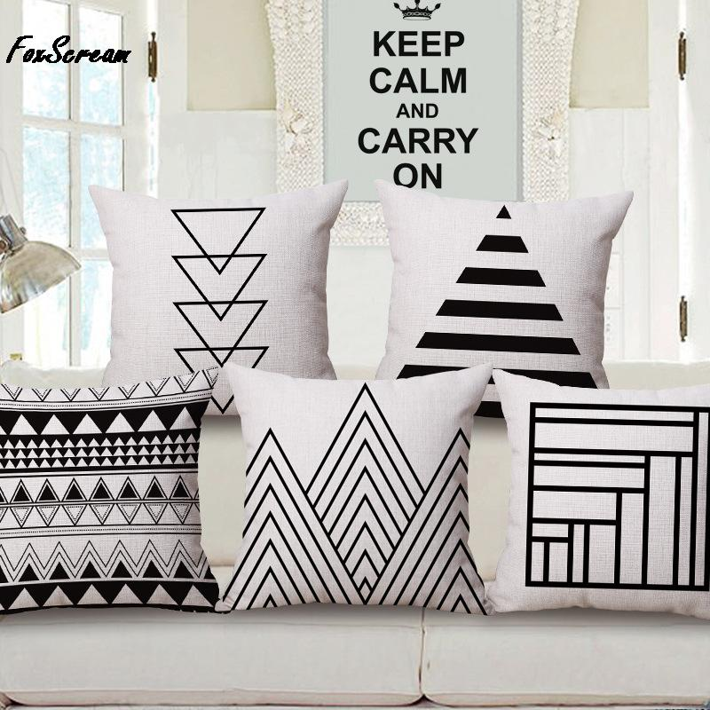 Aliexpress.com : Buy Road Sign Cushion Covers Geometric Mountain Sofa Decor  Pillows Covers Minimalistic Black And White Throw Pillows Cases Kids Gift  From ...