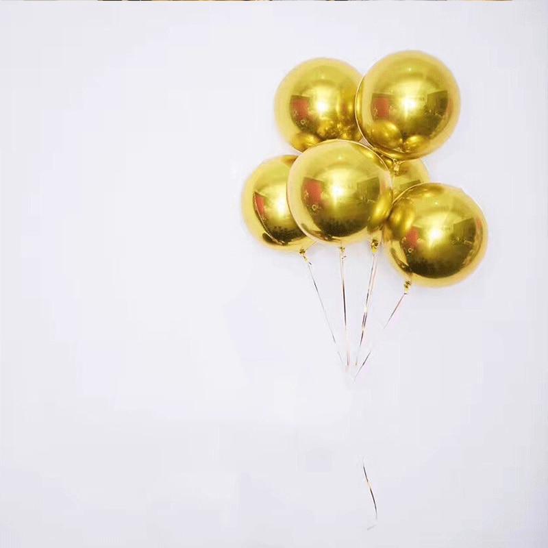 NY 4D Rose Gold Foil Ballon Födelsedag Helium Ballonger Party Balony - Semester och fester - Foto 4