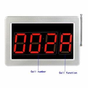 Image 2 - 무선 식당 호출 호출 시스템 1 수신기 호스트 + 4 시계 수신기 + 1 신호 중계기 + 35 송신기 벨 버튼 F3290D