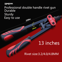 High Quality Heavy Duty Industrial Blind Rivet Guns Manual Riveter Double Handles Nail Gun Hand Riveter