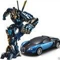 Eléctrico de control remoto coche deformación juguetes transformers bumblebee autobots juguetes deformación king kong 4 juguete de niño robot