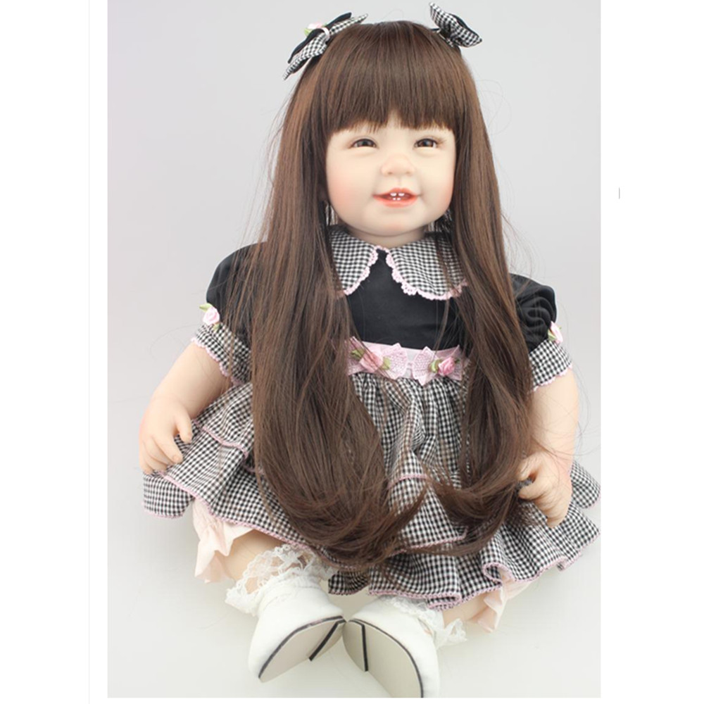 Girl Doll Plaything Toys for Children's Christmas Gift,Novelty 20 Inch Lifelike Baby Princess Doll with Clothes Free Shipping novelty 18 inch 45 cm soft american girl dolls princess doll with dress cute lifelike baby toys for children gift free shipping