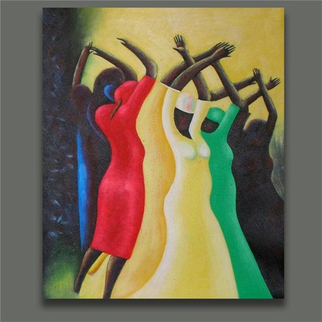 Voorkeur Handgeschilderde Abstract Kleurrijke Human Olieverfschilderij &JB23