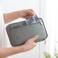 Travel Wallet Family Passport Holder Blocking Document Organizer Case Multi-functional Wallet Cover Bag Organizer Clutch Wallet cheap Yesello NYLON Unisex Solid 2inch 25inch zipper Casual 220kg Credit Card New Passport Travel Wallet Passport Holder Multi-Function Credit Card Package