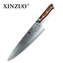 XINZUO 10 inch Chef Knife Japanese Damascus Steel Kitchen Knives Best Quality Professional Gyuto Knife For Hotel and Restaurant(China)