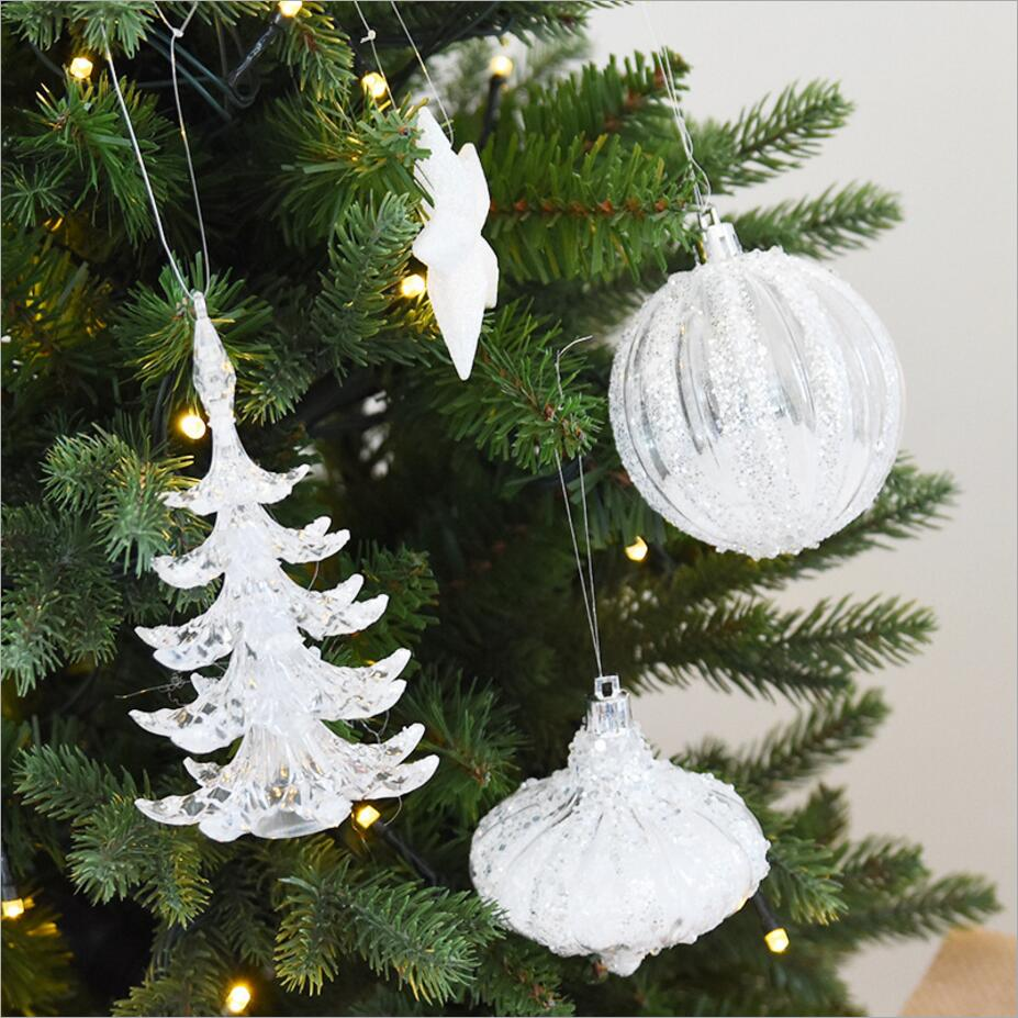 aliexpresscom buy multi shape snow white crystal christmas tree ornament decorations for home snowman christmas gifts xmas tree supplies pendant from - Crystal Christmas Tree