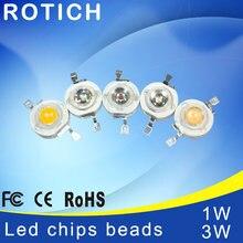 Светодиодные чипы высокой мощности epistar 10 шт/лот 1 Вт/3