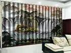 Tenda personalizzata Giorno Rosso Grande Cascata Paesaggio 3D Paesaggio Tenda Soggiorno Tenda Camera Da Letto Bella Pratico Ombra Tende