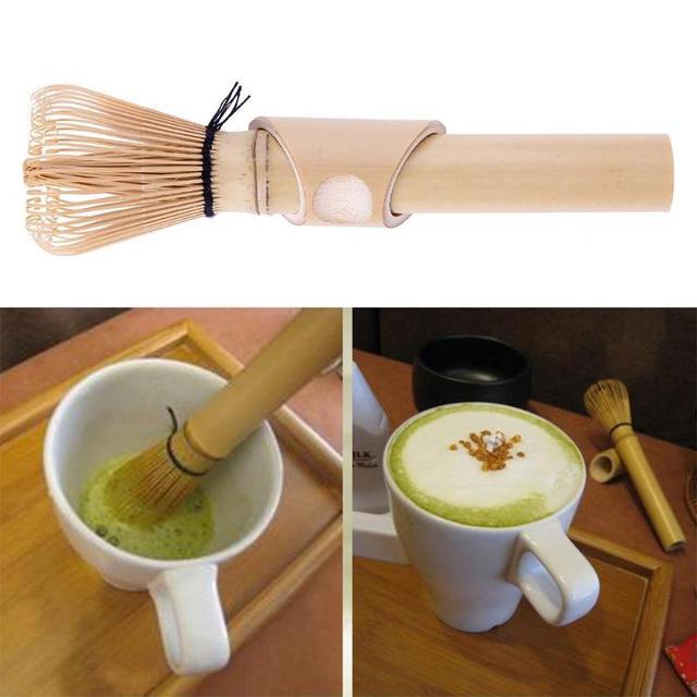 Matcha Whisk Green Tea Matcha Brush Japanese Matcha Tea Powder Ceremony Practical Bamboo Chasen Brush Tools