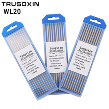 Welding Tools 10pcs Blue head Lanthanated Tungste Electrode 1.0/1.6/2.0/2.4/3.0/3.2/4.0MMX175mm TIG Tungsten Needle/Tungsten Rod цена 2017