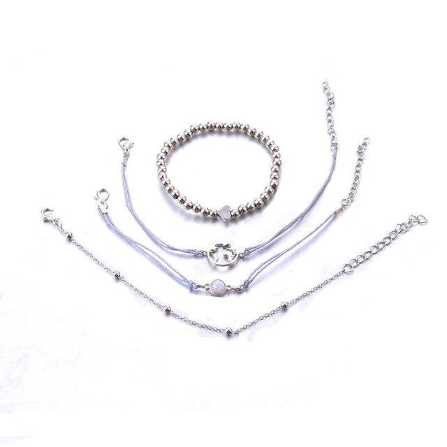 Фото женский набор браслетов diezi ручной работы из серой веревки
