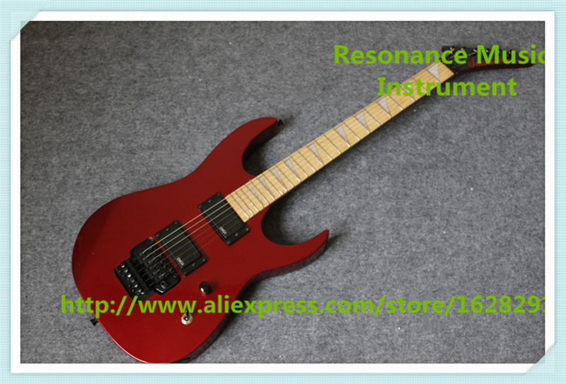 New Arrival Metal Red Finish Jackson Electric Guitars With Black Floyd Rose Tremolo For Sale hot selling china quilted finish musicman ax 40 electric guitar with chrome floyd rose tremolo for sale