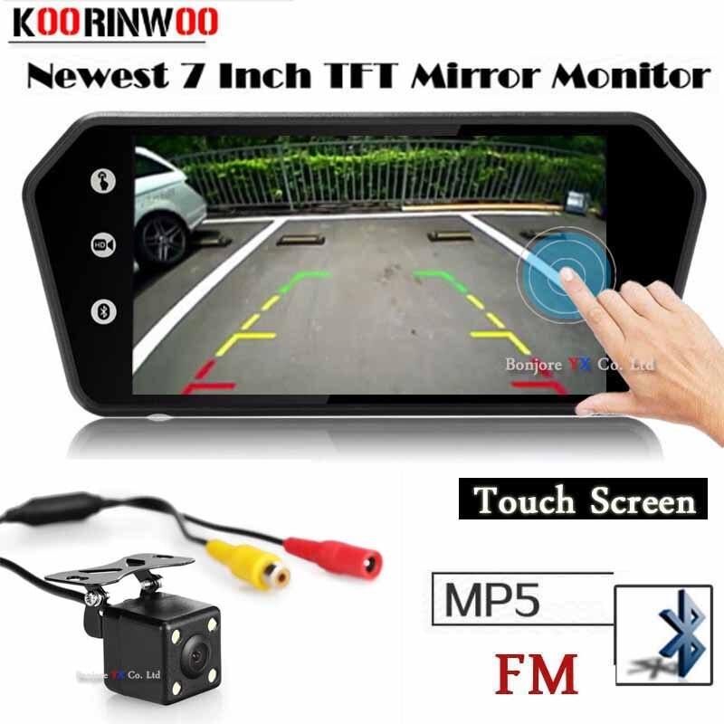 Koorinwoo 2019 Sans Fil De Voiture Écran Tactile Vidéo Système 1024*600 USB Bluetooth MP5 Lecteur De Voiture vue Arrière Caméra de Stationnement assistance