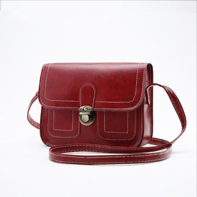 2018 women,s shoulder bag fashion hot sale Vintage Crossbody Bags Leather Small Adjustable Female Lock messenger Handbags
