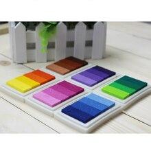 Многоцветной домашнее подушечка градиент отпечатков скрапбукинга штамп чернил пальцев колодки украшения