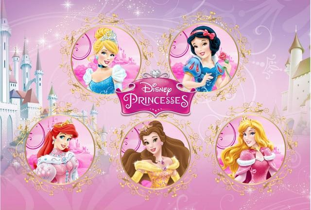 Molto Personalizzare Vinile Fotografia Sfondo principesse disney Bambini  DE54