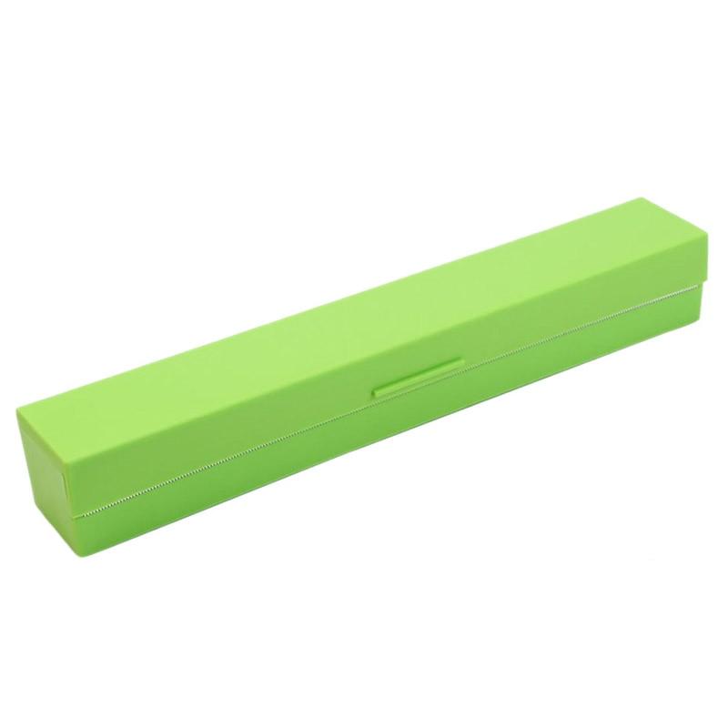 Plastic Kitchen Foil And Cling Film Wrap Dispenser Cutter Storage Holder(Green)