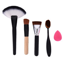 5pcs/setToothbrush Makeup Brush Oval Brush Set Multipurpose Makeup Brushes foundation makeup puff cosmetic Set (opp bag packing)