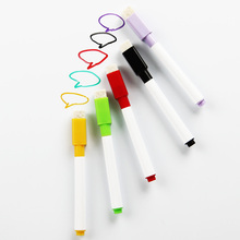 6PCS/Set Brand New Magnetic Whiteboard Pen Erasable Dry White Board Markers Magnet Built In Eraser Office School Supplies