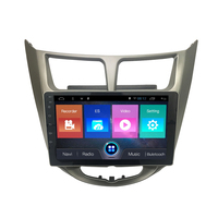 Navirider Android 7.1 car radio tape recorder quad Core 2GB RAM 32GB rom for hyundai Solaris Verna Accent haed units with GPS