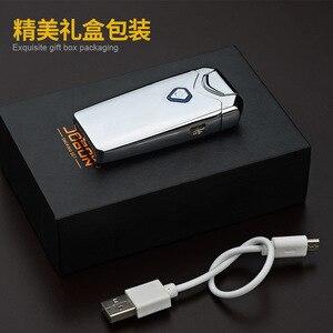 Image 5 - Nuovo USB Thunder Più Leggero Ricaricabile Accenditore Elettronico della Sigaretta Plasma Doppio Arco Palse Impulso Antivento Gadget per Gli Uomini Regalo