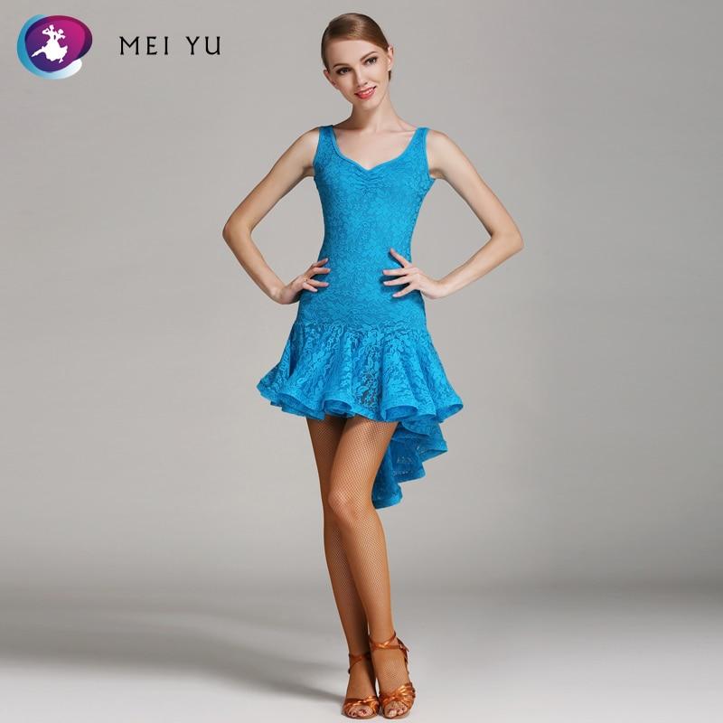 Getrouw Mei Yu S8022 Latin Dans Kostuum Rumba Samba Cha Cha Dansen Jurk Vrouwen Lady Adult Ballroom Kostuum Avond Party Dress Wees Onthouden In Geldzaken