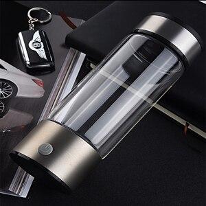 Image 3 - Hygrogen rich Water Bottle 400ml Portable Hydrogen Water Generator high borosilicate glass Fast Electrolysis Hydrogen Maker