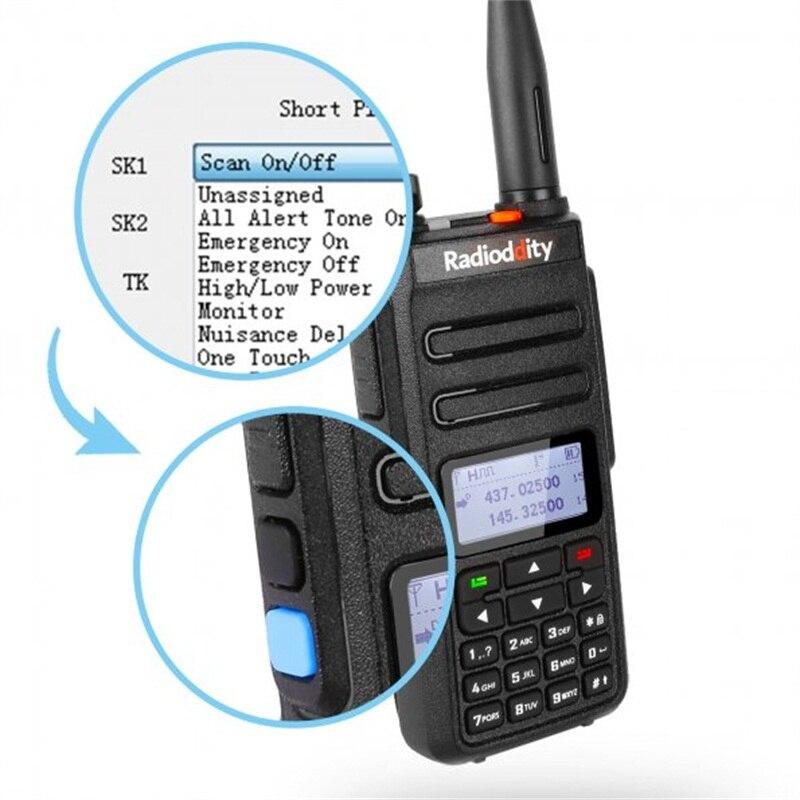 band digital 2pcs Radioddity GD-77 Dual Band Dual Time Slot Digital Two Way Radio Walkie Talkie Transceiver DMR Motrobo Tier 1 Tier 2 Cable (3)
