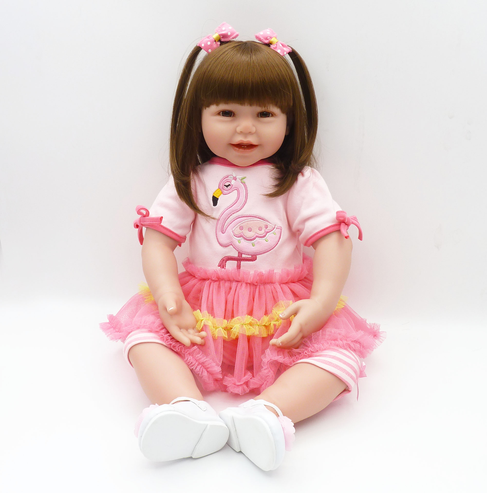 61cm Soft Cotton Body Dolls Silicone Reborn Baby Dolls Princess Bebe Dolls Brinquedo Menina Dolls Toy for Girls and Boys61cm Soft Cotton Body Dolls Silicone Reborn Baby Dolls Princess Bebe Dolls Brinquedo Menina Dolls Toy for Girls and Boys