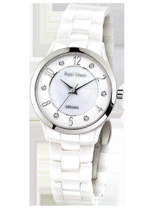 Здесь продается  Royal Crown 6265L Italy brand Diamond Japan MIYOTA ceramics Luxury Lover Watches Bracelet Watches with Fine Women Dress Watch  Часы