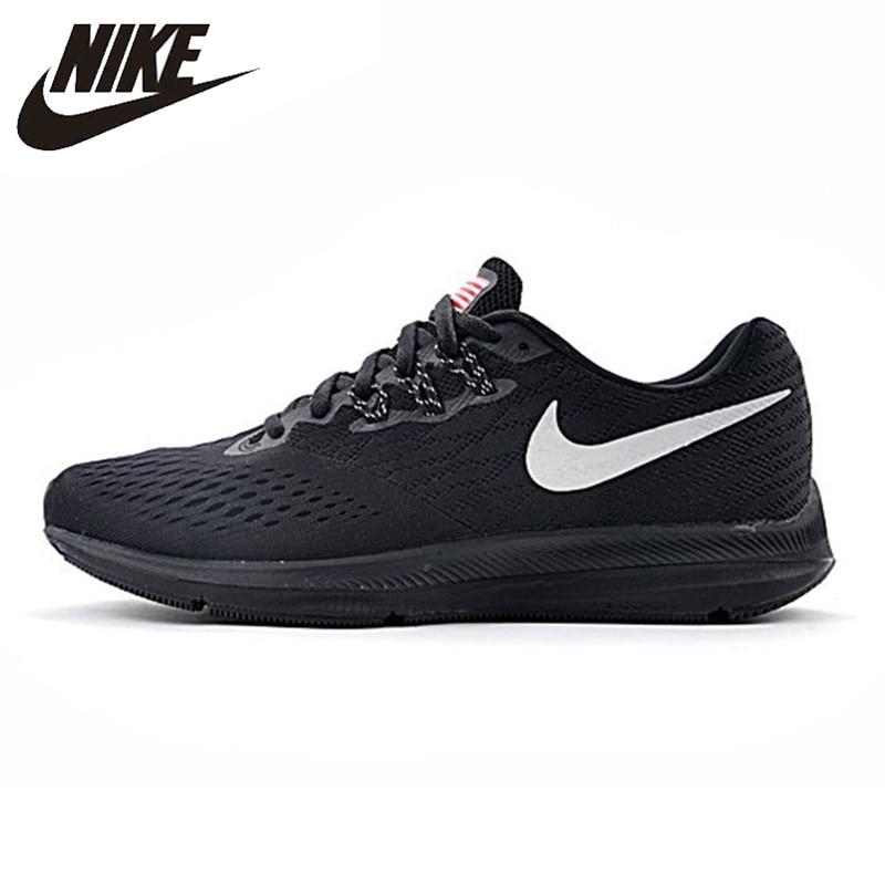 Nike ZOOM WINFLO 4 SHIELD Men's Running Shoes Wearable Non-slip Breathable Lightweight Sneakers 898466-999 кроссовки для бега мужские nike air zoom winflo 4 цвет синий 898466 403 размер 12 5 46