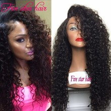 2016 Fashion Style 150 density human hair Full Lace wigs with baby hair 100% Brazilian hair Curly Lace Front wig Free Shipping
