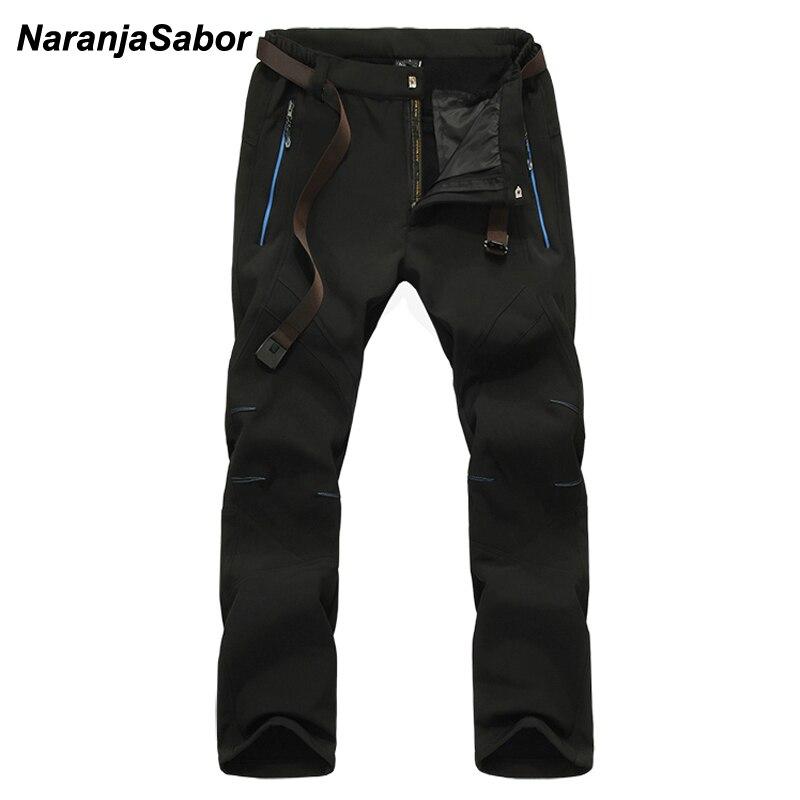 e7c925be545c6d NaranjaSabor 2019 Pantaloni Invernali da Uomo Mens Casual Pant Impermeabile  del Maschio Jogger Pantaloni di Spessore Caldo Pile All'interno Dei  Pantaloni ...