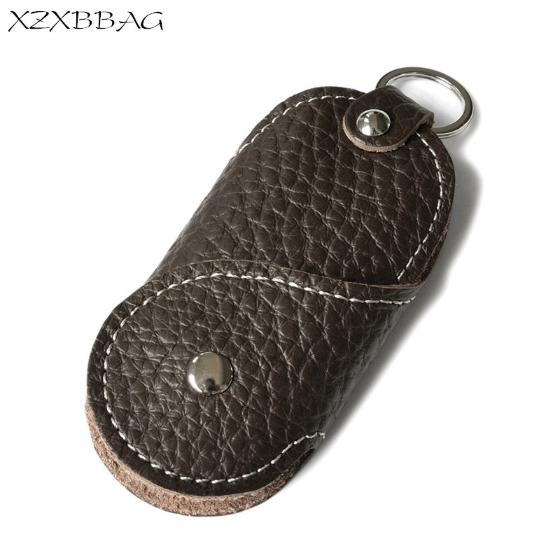 Фото XZXBBAG Genuine Leather Key Holder Organizer Men Car Key Wallets Housekeeper Male Keychain Covers Hasp Key Case Bag Pouch XB159