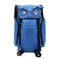 New Personality Cartoon Backpack Men And Women Computer Backpack Creative Owl Bag