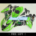 or Kawasaki ZX-6R 2005-2006 Fairings Ninja 05-06 Green Fairing Kit ZX6R ZX-636 636 ZX6R 05 06 2005 2006