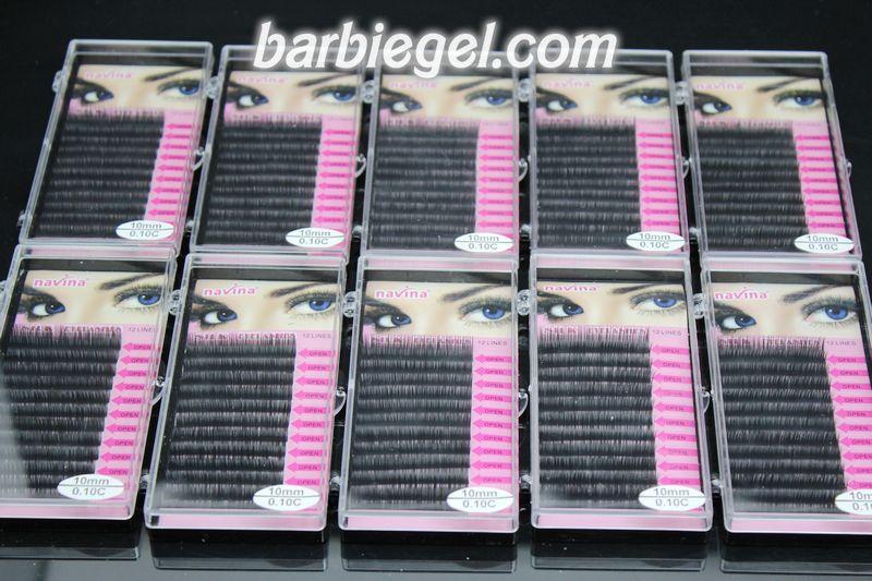 10 cases/lot 10mm C Curve 0.10 thickness MINK eyelash extension artificial eyelash Fake Makeup False Eye Lash Eyelashes