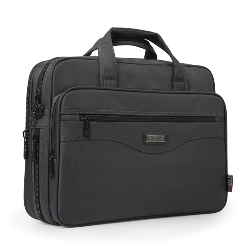 Business Briefcase Laptop Bag Oxford Cloth Multi-Function Waterproof Handbags Casual Portfolios Mantravel Shoulder Bags For Men(China)