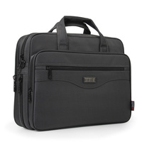 New Fashion Business Men Bag Horizontal Section Male Briefcase Handbag High Quality Laptop Bag Multi Function
