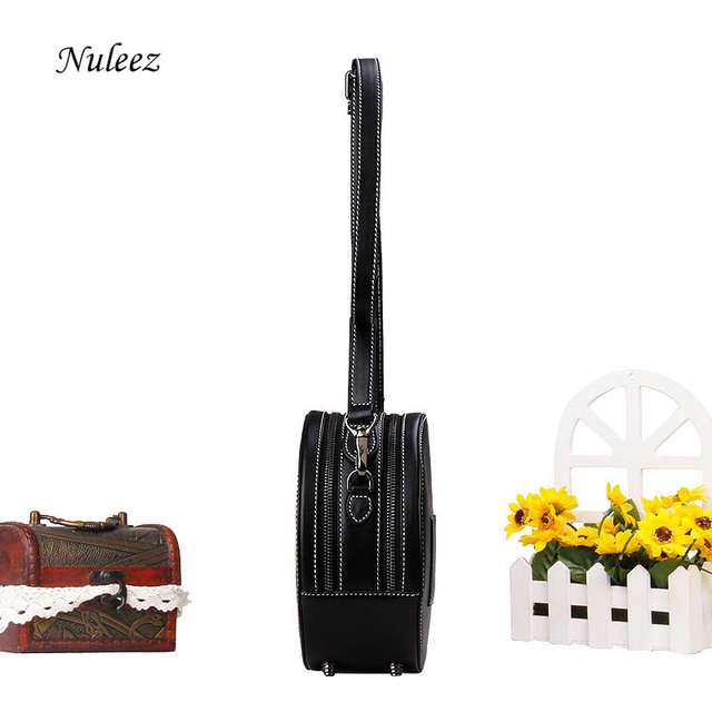 Nuleez genuine cowhide leather hand engraving flower women bag Chinese vintage style fashion bag 2019 summer new promotion
