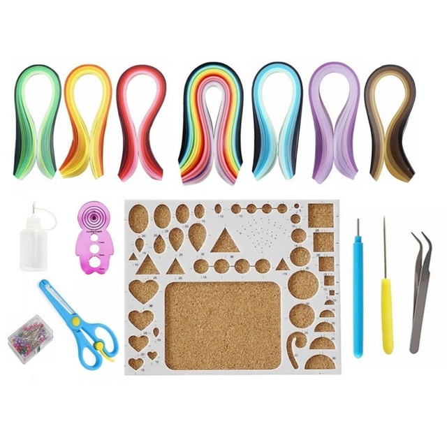 Quilling Kit with 860Pcs Paper Strips