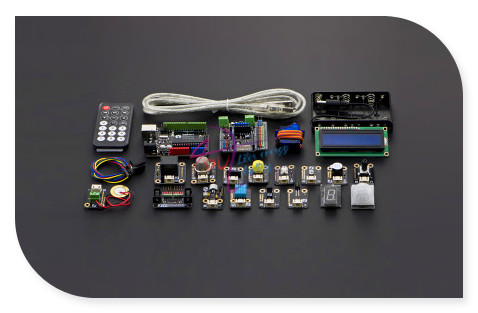 new DFRobot 100% Genuine Intermediate Kit V2 for Arduino-Modules розетка tv fm unica schneider electric 1265696